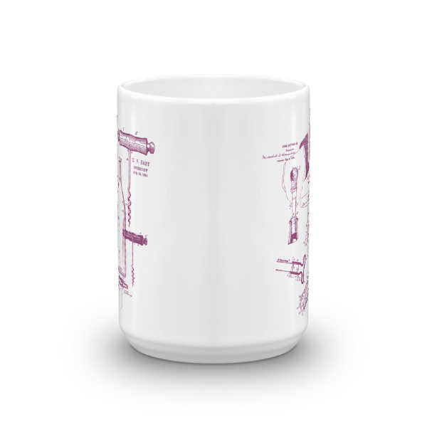 Corkscrew MS-Lineart 15oz Mug FRONT VIEW
