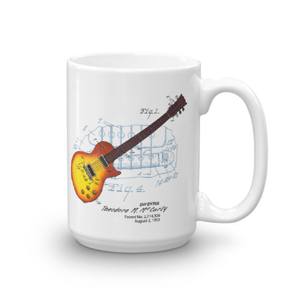 Sunburst Guitar 15oz Mug