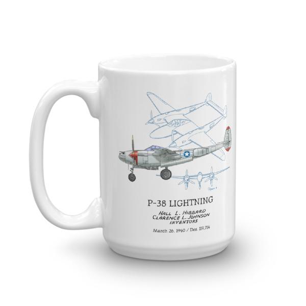 P-38 Lightning 15oz Mug