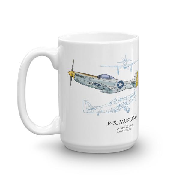 P-51 Mustang 15oz Mug