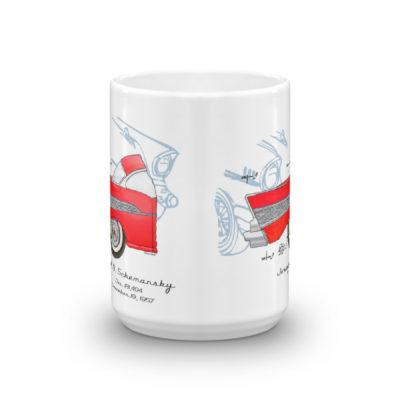 57 Chevy 15oz Mug FRONT VIEW