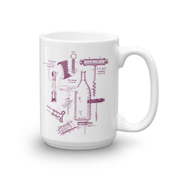 Corkscrew MS-Lineart 15oz Mug