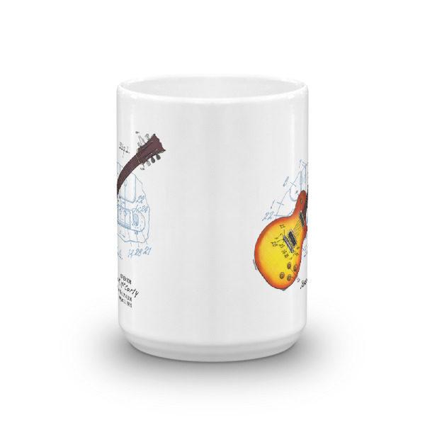Sunburst Guitar 15oz Mug FRONT VIEW