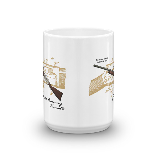 Browning Auto-4 15oz Mug FRONT VIEW