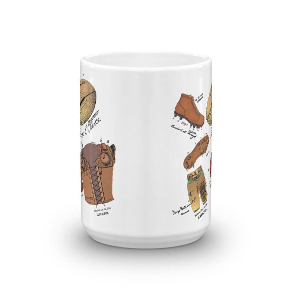 Football MS-Color 15oz Mug FRONT VIEW