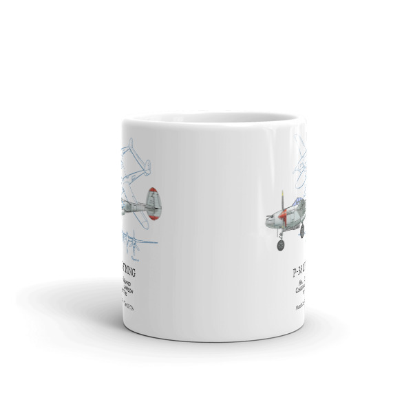 P-38 Lightning 11oz Mug FRONT VIEW