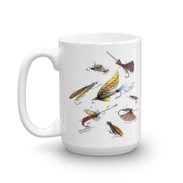 Fly Fishing Flies MS-Color 15oz Mug