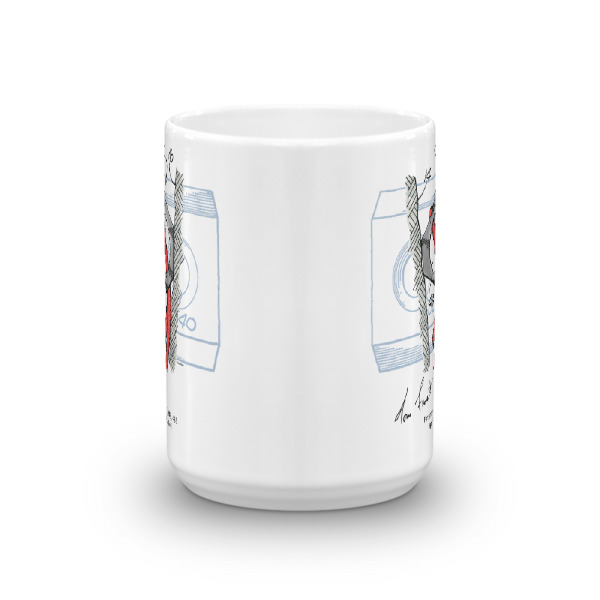 Hex Chock 15oz Mug FRONT VIEW