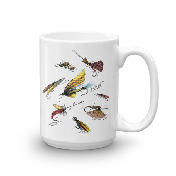 Fly Fishing Flies MS-Color 15oz Mug