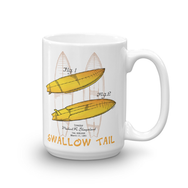 Surfboard Swallow Tail 15oz Mug