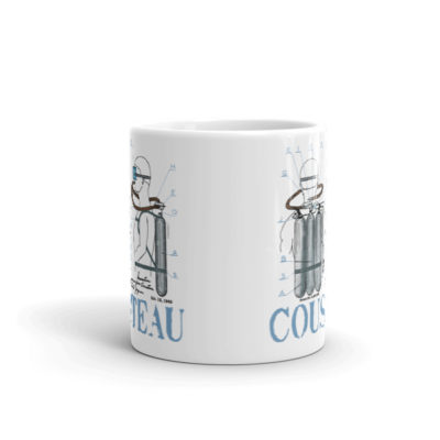 Cousteau Aqualung 11oz Mug FRONT VIEW