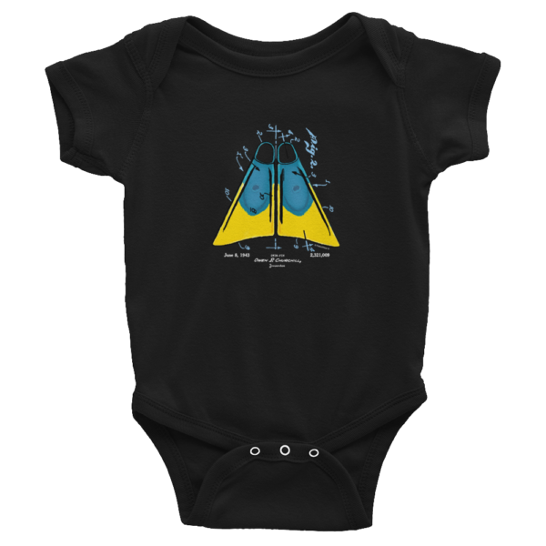 Churchill Fins Wee Onesie BLACK