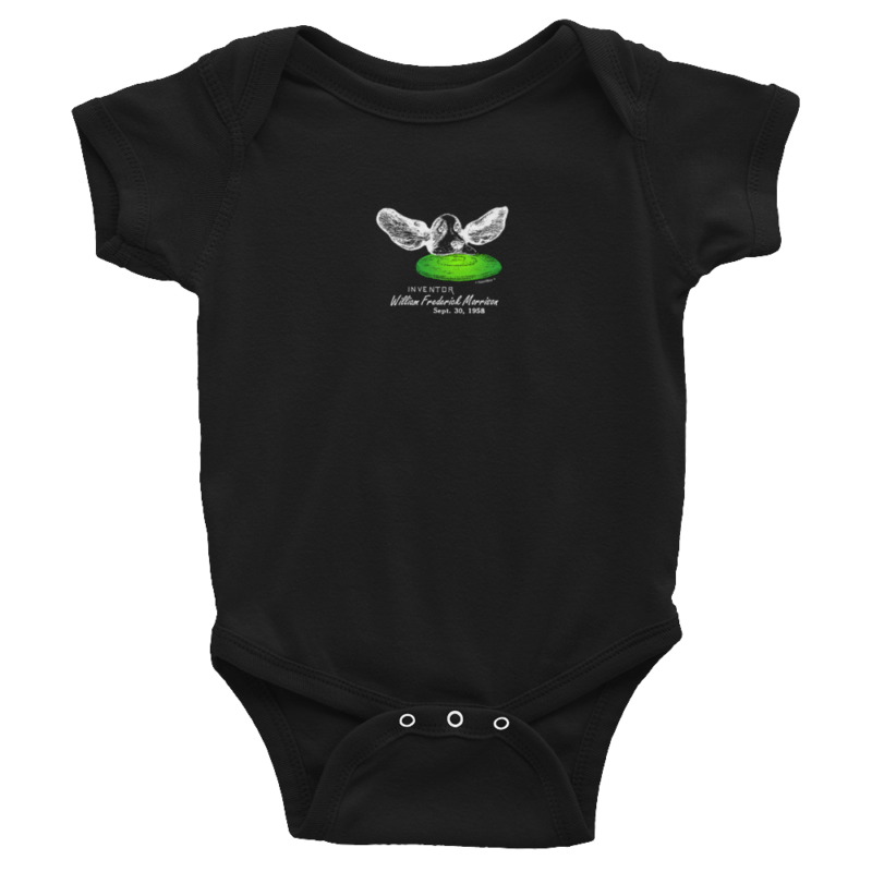Flying Disc Wee Onesie BLACK