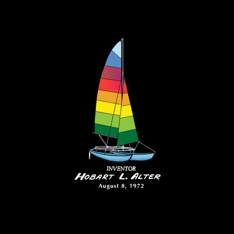 """Hobie Catamaran """"Pocket"""" Design on Darks"""