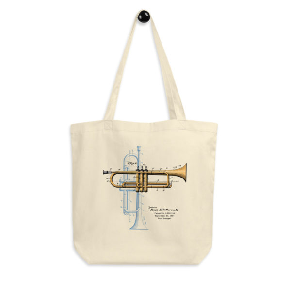 Trumpet Solo Tote Bag hanging