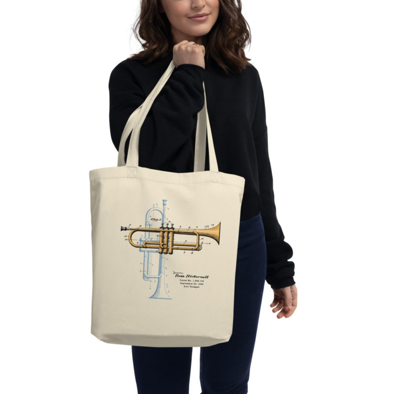 Trumpet Solo Tote Bag in action