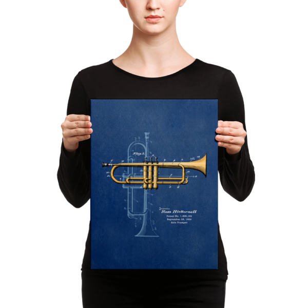 Trumpet Solo Wall Art CANVAS