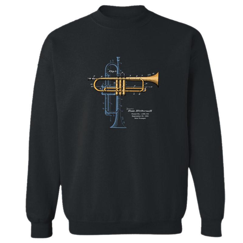 Trumpet Solo Crewneck Sweatshirt BLACK