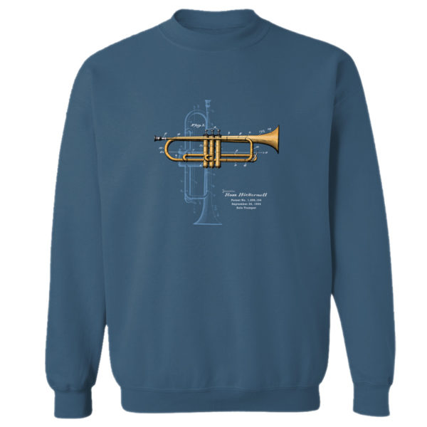 Trumpet Solo Crewneck Sweatshirt INDIGO