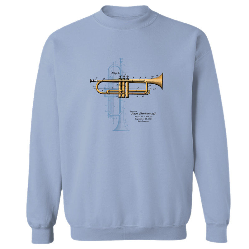Trumpet Solo Crewneck Sweatshirt LIGHT BLUE