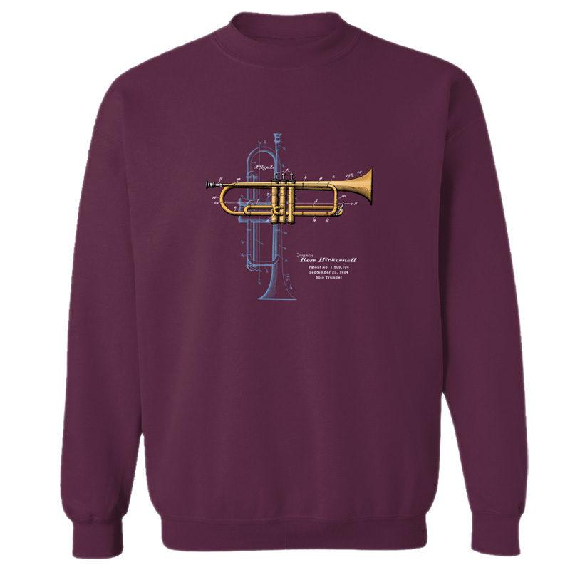 Trumpet Solo Crewneck Sweatshirt MAROON