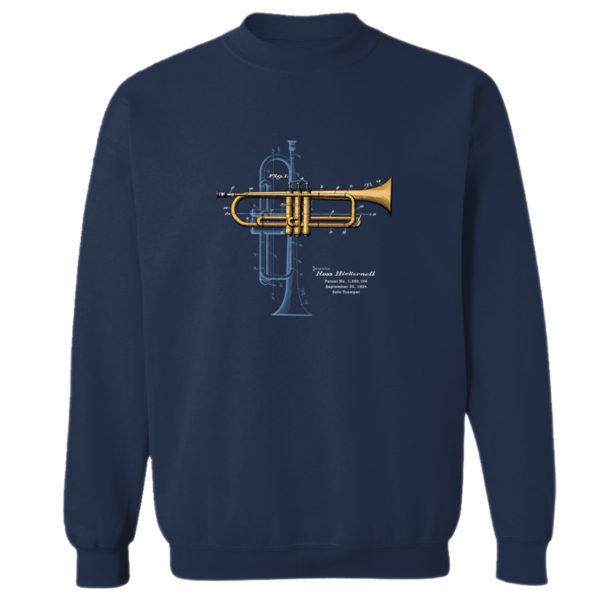 Trumpet Solo Crewneck Sweatshirt NAVY