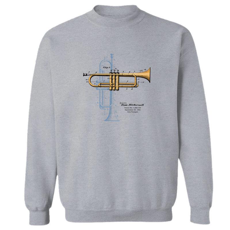 Trumpet Solo Crewneck Sweatshirt SPORT GRAY