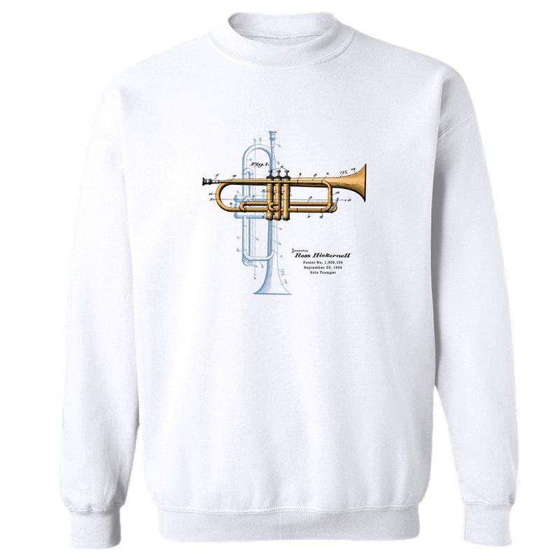 Trumpet Solo Crewneck Sweatshirt WHITE