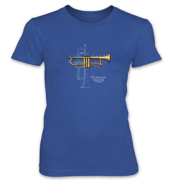 Trumpet Solo Women's T-Shirt ROYAL BLUE