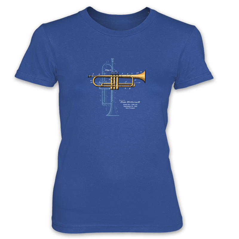 Trumpet Solo Women's T-Shirt ROYAL BLUE