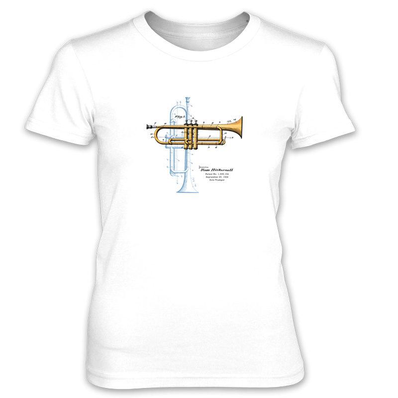 Trumpet Solo Women's T-Shirt WHITE