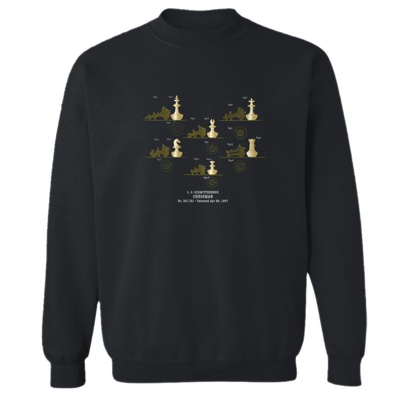 Chessman Crewneck Sweatshirt BLACK
