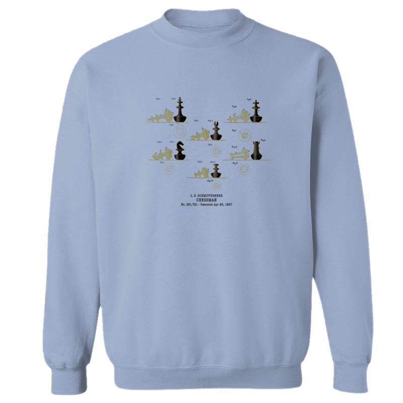 Chessman Crewneck Sweatshirt LIGHT BLUE