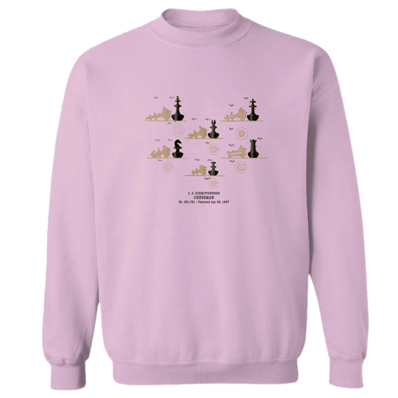 Chessman Crewneck Sweatshirt LIGHT PINK