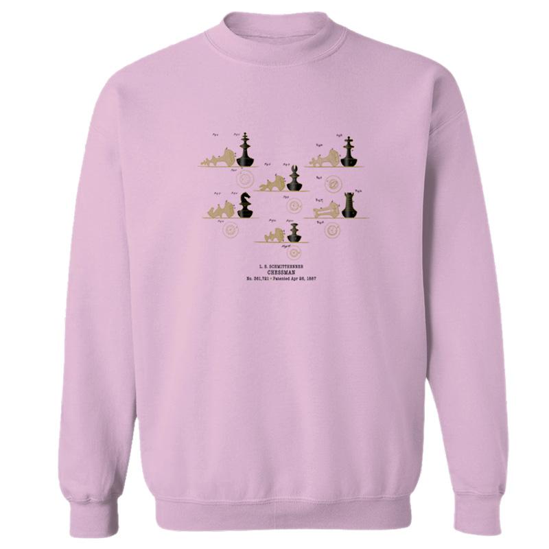 Chessman Crewneck Sweatshirt LIGHT PINK
