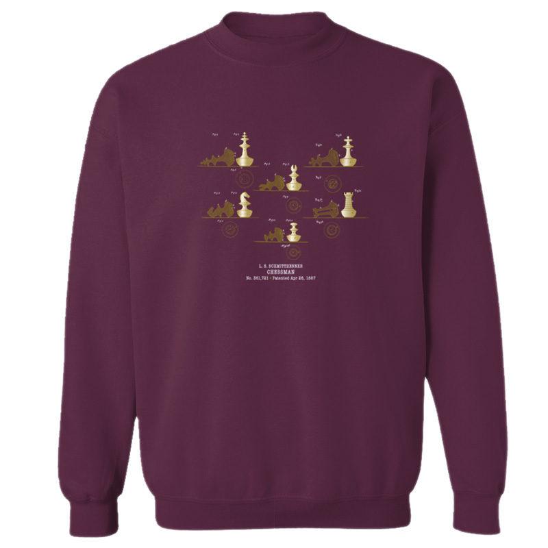Chessman Crewneck Sweatshirt MAROON