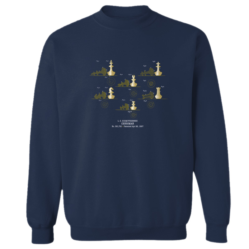 Chessman Crewneck Sweatshirt NAVY