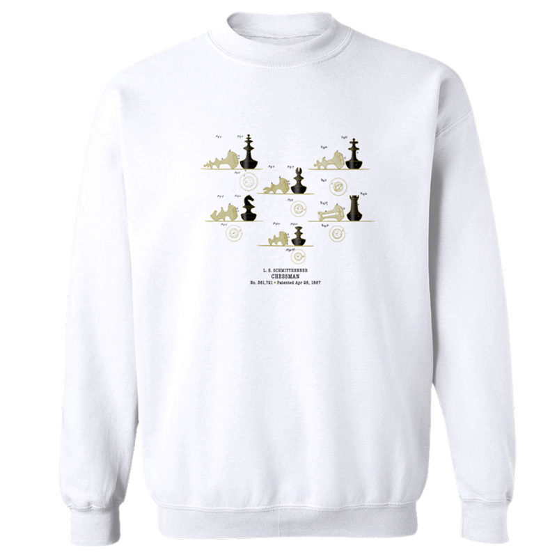 Chessman Crewneck Sweatshirt WHITE