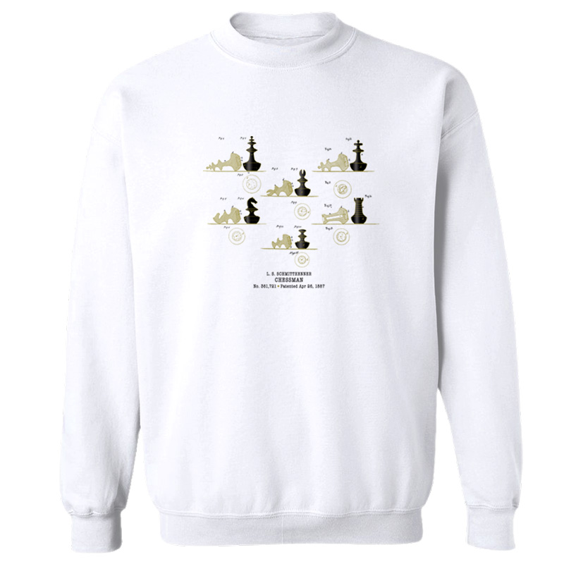 Chessman Crewneck Sweatshirt WHITE