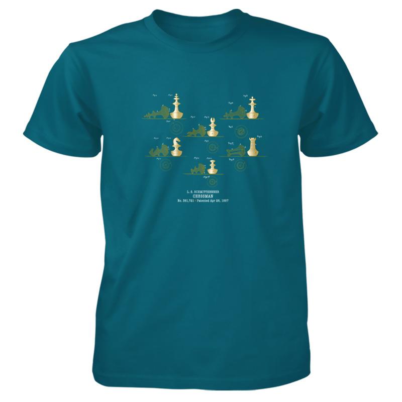 Chessman T-Shirt GALAPAGOS BLUE