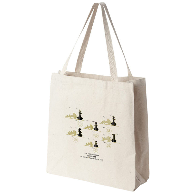 Chessman Tote Bag SIDE (GUSSET) VIEW