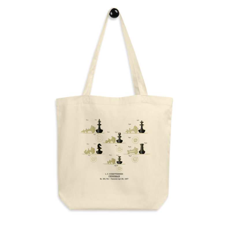 Chessman Tote Bag hanging