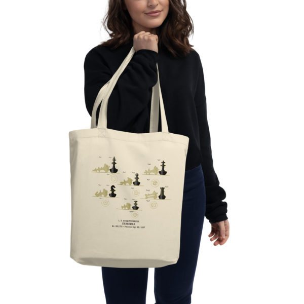 Chessman Tote Bag in action