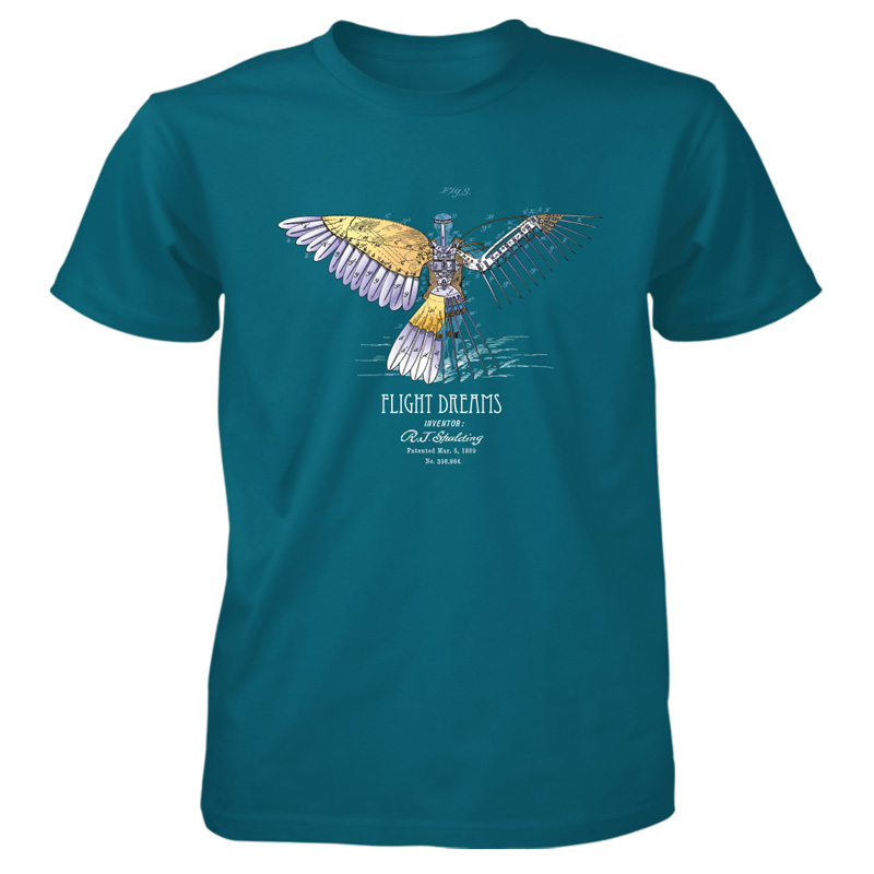 Flight Dreams T-Shirt GALAPAGOS BLUE