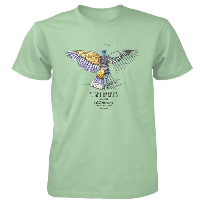 Flight Dreams T-Shirt MINT GREEN