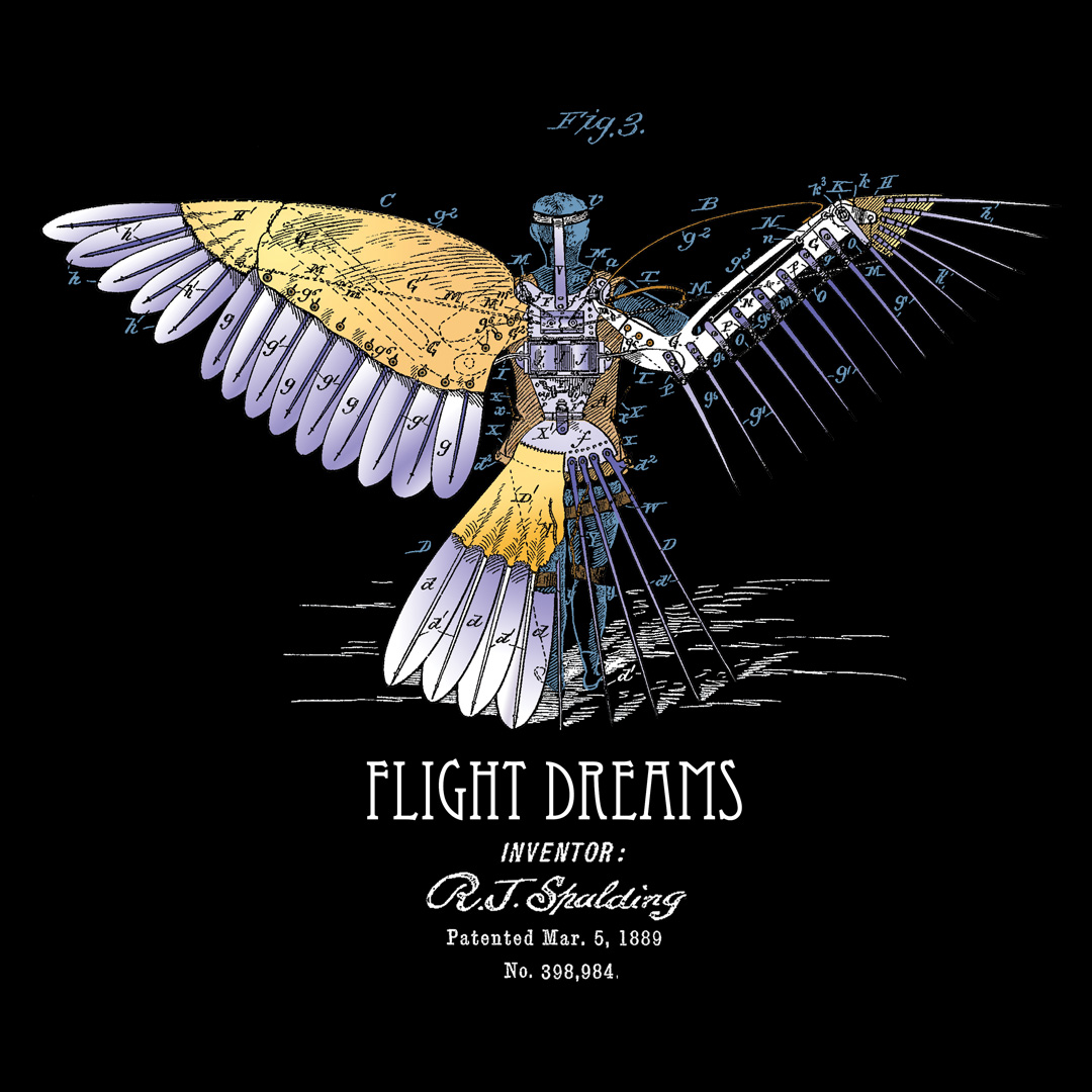 Flight Dreams Design on Darks