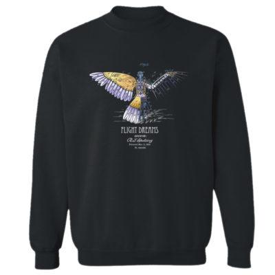 Flight Dreams Crewneck Sweatshirt BLACK