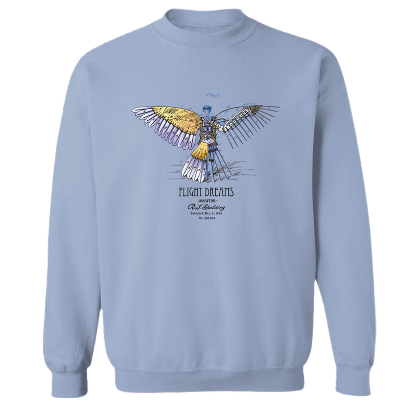 Flight Dreams Crewneck Sweatshirt LIGHT BLUE