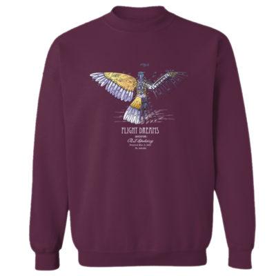 Flight Dreams Crewneck Sweatshirt MAROON