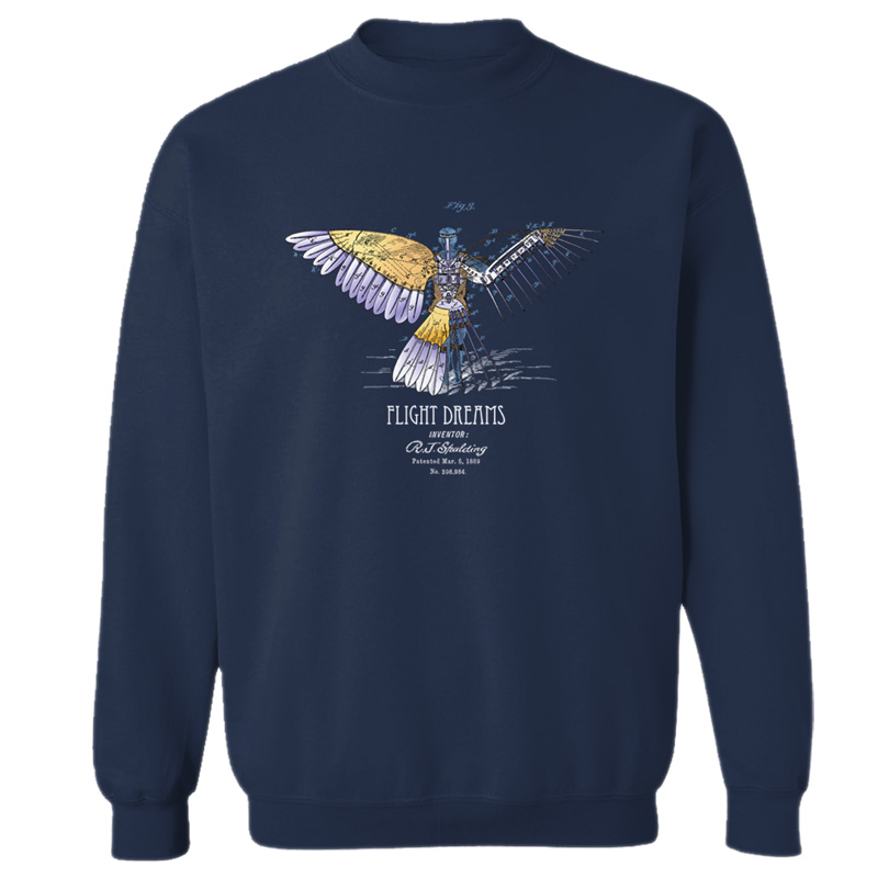 Flight Dreams Crewneck Sweatshirt NAVY